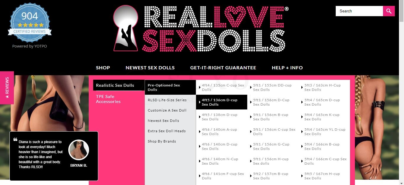 #1 Realistic Sex Dolls - Lifelike Love Doll in TPE + Silicone