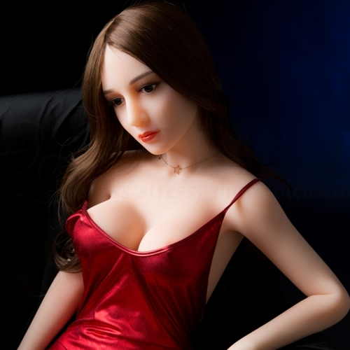 SEXO 140cm Bigbreast light mature woman japanese silicone sex doll